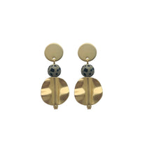 Load image into Gallery viewer, Grace Dangle Earrings -- Dalmatian Jasper