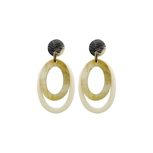 Light Horn Statement Earrings
