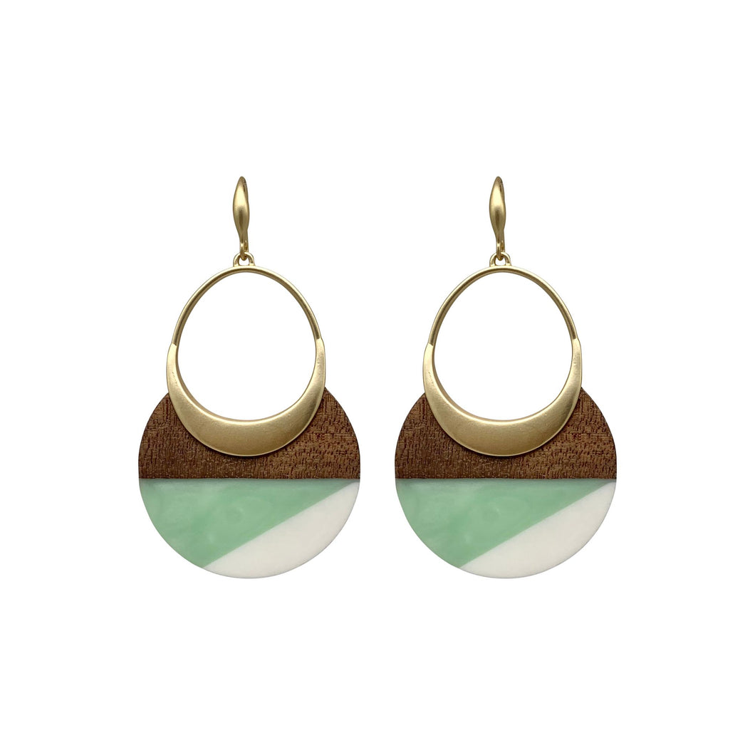 Mint Wood and Acrylic Dangles
