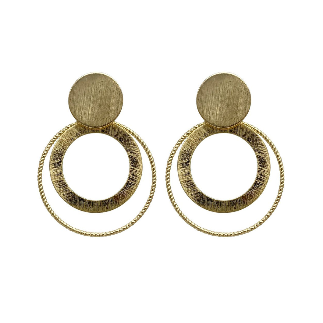 Sadie -- Gold Statement Earrings