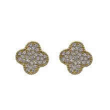 Load image into Gallery viewer, Mini Clover Studs in Gold
