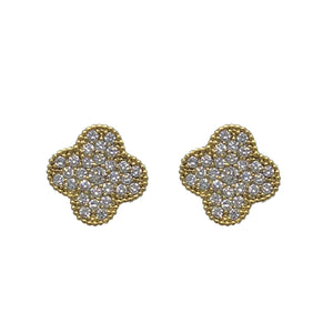 Mini Clover Studs in Gold