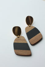 Load image into Gallery viewer, Black Wood and Resin Dangles