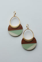 Load image into Gallery viewer, Mint Wood and Acrylic Dangles