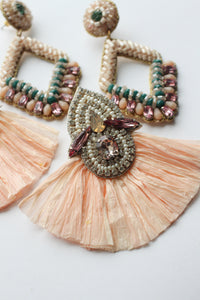 Peach Straw Dangles