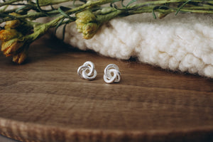 Knotted Stud in Silver