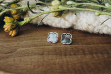 Load image into Gallery viewer, Abalone Clover Stud in Silver