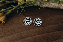 Load image into Gallery viewer, Hannah Animal Print Studs in Silver