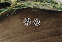 Load image into Gallery viewer, Hannah Animal Print Studs in Rose Gold