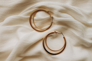 Blaine Hoops Statement Earrings