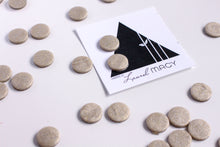 Load image into Gallery viewer, Silver Gold Fleck Shimmer Polymer Clay Stud Earrings,