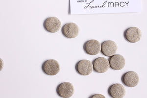 Silver Gold Fleck Shimmer Polymer Clay Stud Earrings,