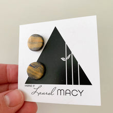 Load image into Gallery viewer, One of a Kind Laurel Macy Classic Studs Earrings 0500 Navy Gold Mix