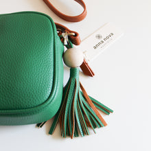 Load image into Gallery viewer, Tropicana Satchel in Emerald Green