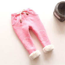Load image into Gallery viewer, baby pants for Boy girl Autumn Boys warm cotton thick Pant winter Fashion Cartoon Clothes children trousers kids fleece pants 3T