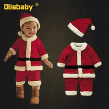 Load image into Gallery viewer, 0-12T New Year Kids Santa Claus Cosplay Costume Carnival Party Christmas Girls Red Dress Baby Boys Xmas Clothing Set Halloween