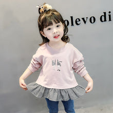 Load image into Gallery viewer, Spring Autumn Baby Girl Sweatshirts Kids Long Sleeve Patchwork Design Sweatshirt for Toddler Girls  Outerwear Coat Clothes