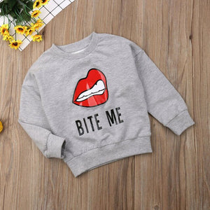 2019 Bite Me Baby Boy Girl Cotton T-shirt Top Sweater Hoodie Sweatshirt Kid Outfit US