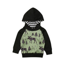 Load image into Gallery viewer, 6M-4Y Toddler Baby Boys Hooded Sweatshirt Reindeer Autumn Winter Hoodies Clothes Tops