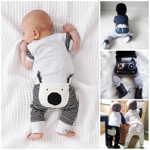 Casual Toddler Baby Bottoms Pants newborn  Infant Boys Girls Cartoon Harem Pants Trousers