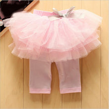 Load image into Gallery viewer, Infant Baby Girls skirt Leggings kids Gauze Pants pink,blue,yellow Party Skirts Bow Candy Tutu pants for 0 to 24m child