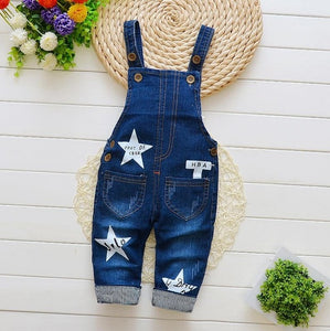 Newborn pants Baby denim overalls children autumn Infant Rompers child bib pants kids boy girl trousers for toddler longs jeans