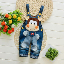 Load image into Gallery viewer, Newborn pants Baby denim overalls children autumn Infant Rompers child bib pants kids boy girl trousers for toddler longs jeans