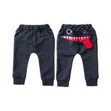 Load image into Gallery viewer, Casual Baby Children Pants Toddler Boys Girls Cute Big Mouth Monster Trousers Costumes Long Cototn Infant Cartoon Panty Clothes