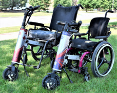 Cheelcare Companion Attached to both adult and pediatric manual wheelchair