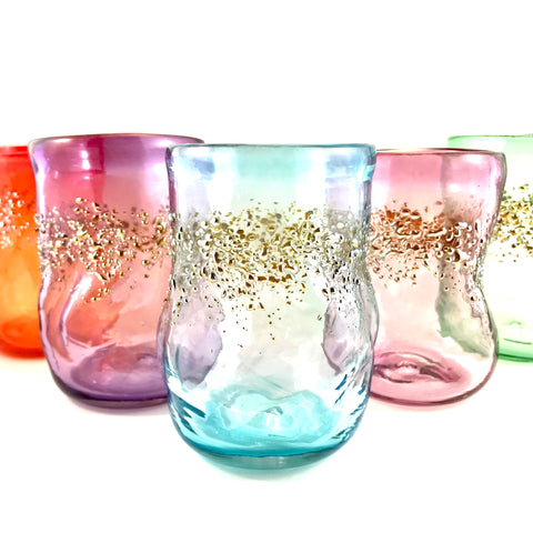 Party Glass with Glitter