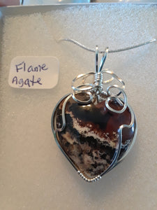 Flame Agate Necklace