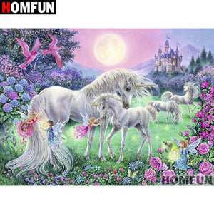 "Diamond Painting ""Unicorn Castle"""