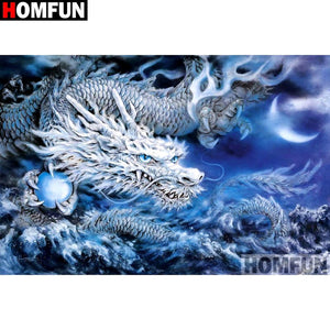 "Diamond Painting ""Dragon scenery"""