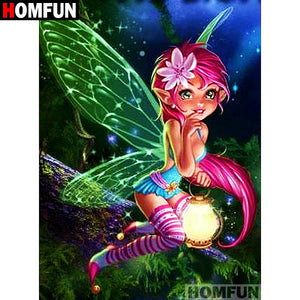 "Diamond Painting ""Butterfly Elf"""