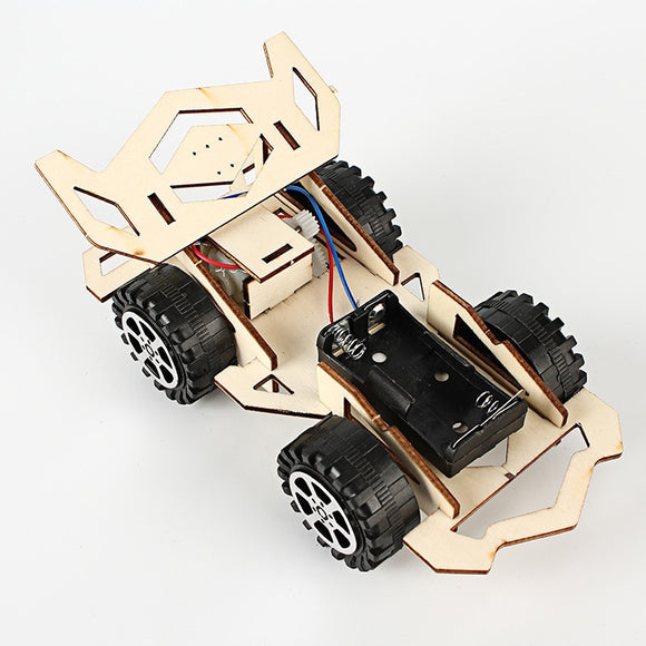 Wooden  Electric Racing Car Kit