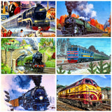 Diamond Painting Train Kits