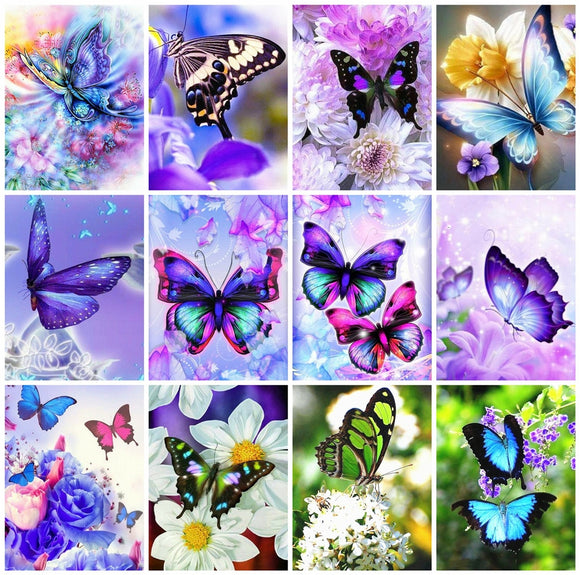 Diamond Painting  Butterfly Flower  Kits
