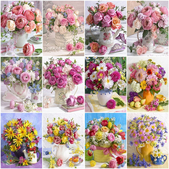 Paint By Number Flower Kits