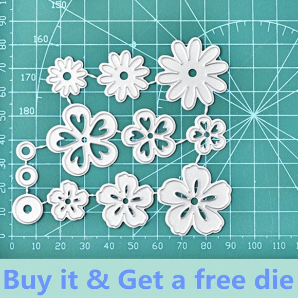 12Pcs  Metal Cutting Dies, Daisy