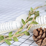 10M/Lot Artifical Leaf,  Natural  Jute Twine