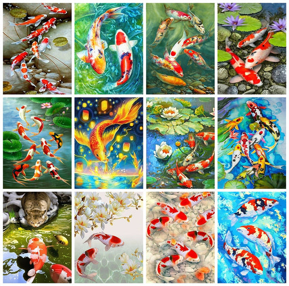 Diamond Painting Fish Art Kit
