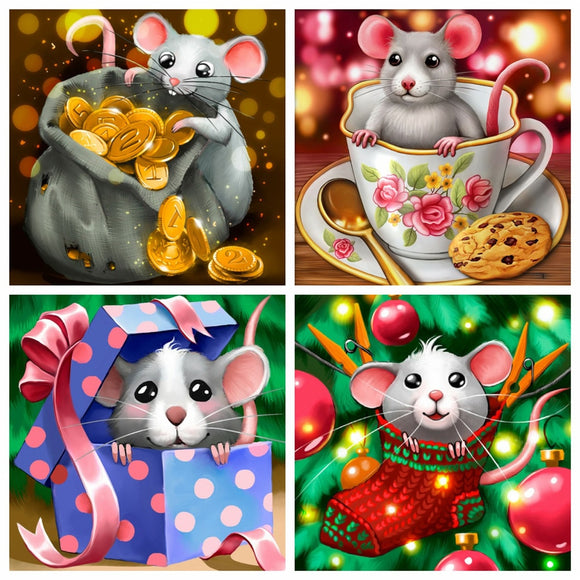 Diamond Painting Mouse  Kit