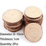 3-12cm Thick 1 Pack Natural Pine Round Unfinished Wood Slices