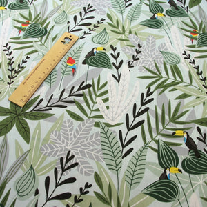 Printed Leaves 100% cotton fabric