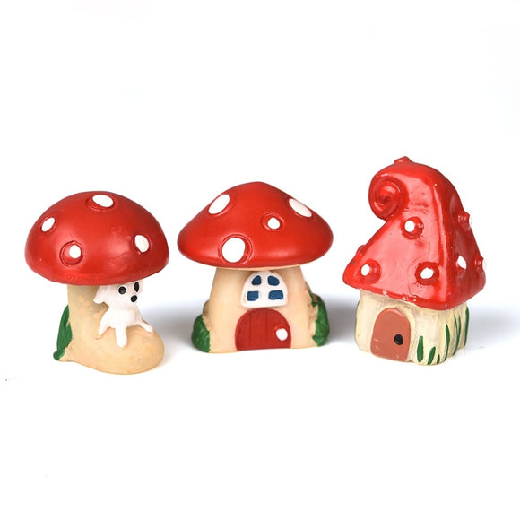 3Pcs/Set  Red Mushroom House