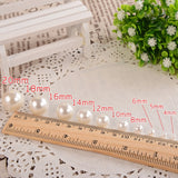 10-400pcs/lot 3-20mm Straight Holes  Imitation Pearl Beads