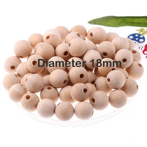 2-300pcs Natural Wooden Spacer Beads