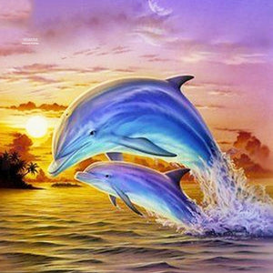 Diamond Painting Dolphin  Art Kit