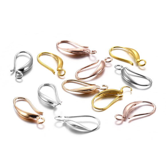 12pcs 17x8mm  French  Ear Clasps