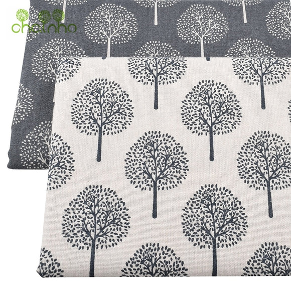 Printed Cotton Linen Fabric